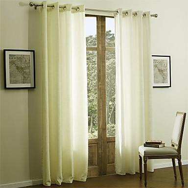Schlaufen für Gardinenstange Ösen Schlaufen Zweifach gefaltet zwei Panele Window Treatment Modern Solide 55% Baumwolle Chenille/45%