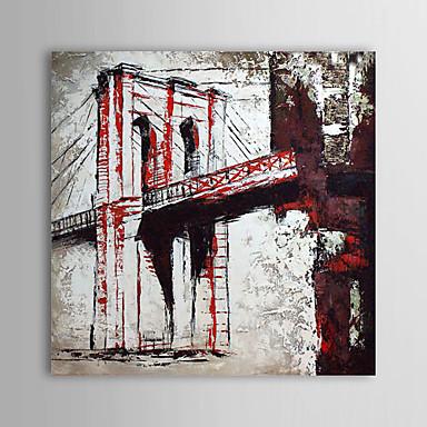 Hang-Painted öljymaalaus Maalattu - Maisema Comtemporary Kangas