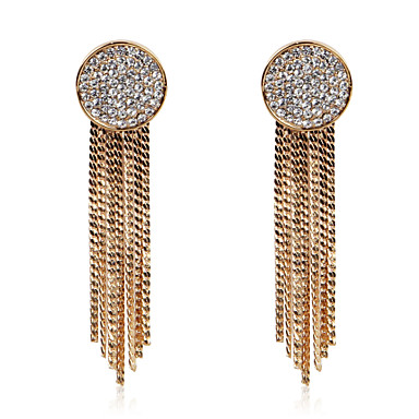 Gorgeous Gold Alloy Crystal Earrings