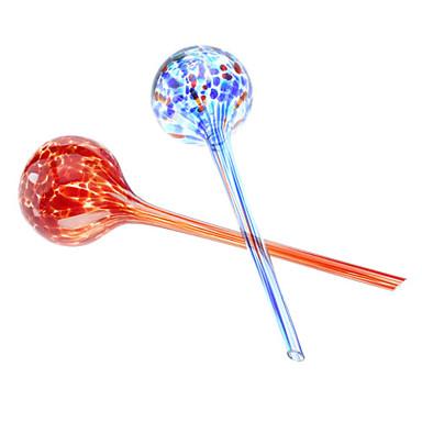 farverige kreativ vanding mundblæste glas (2-pak)