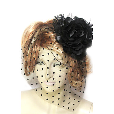 Women's Lace Tulle Cotton Flannelette Headpiece-Wedding Special Occasion Fascinators