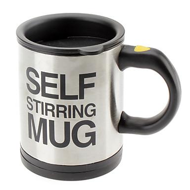 Automatický míchací kávový šálek / hrnček drinkware nerezová kávová kelímek s vlastním mícháním elektrický hrnek