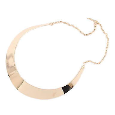 Women's Circle Simple Style Punk European Choker Necklace Alloy Choker Necklace , Party Daily