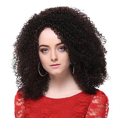 Sentetik Peruklar Bukle Katmanlı Saç Kesimi Şelale Kahverengi Kadın's Komple Dantel Karnaval Peruk Cadılar Bayramı Peruk Şort Sentetik Saç