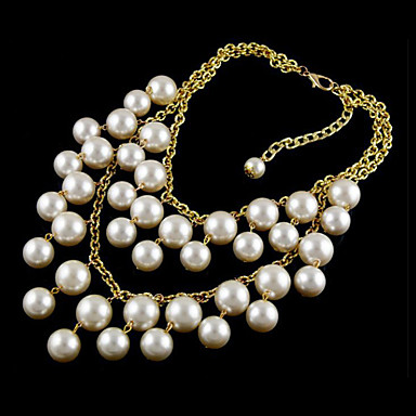 Multilayer Pearl Tael Alloy Necklace(Aorted Color)