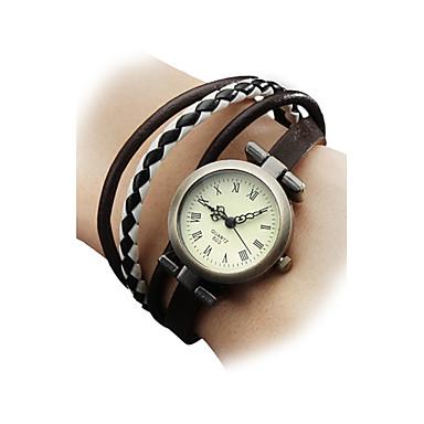 Kadın's Bilezik Saat / Bilek Saati Japonca Gündelik Saatler Gerçek Deri Bant Bohem / Moda Çok-Renkli / Bir yıl / SSUO SR626SW
