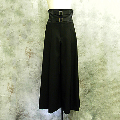 Pants Gothic Lolita Punk Lolita Elegant Cosplay Lolita Dress Solid Lolita Pants For Cotton