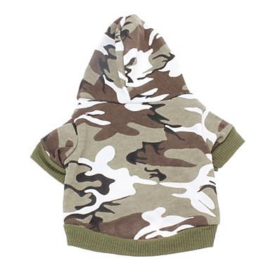 Chat Chien Pulls à capuche Vêtements pour Chien Mode camouflage Couleur camouflage