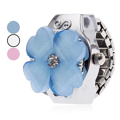 Kadın's Yüzük Saat Japonca Quartz Gündelik Saatler Alaşım Bant Çiçek Karikatür Gümüş - Beyaz Mavi Pembe Bir yıl Pil Ömrü / SSUO SR626SW