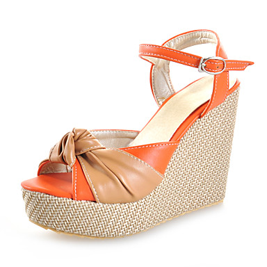 Kunstleer wiggen sandalen met split gezamenlijke feest / avond / casual schoenen (meer kleuren)