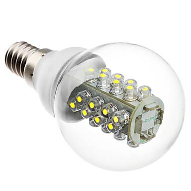 1kpl 2 W 100-130 lm E14 LED-pallolamput G45 32 LED-helmet Upotettu LED Koristeltu Valkoinen 220-240 V / RoHs