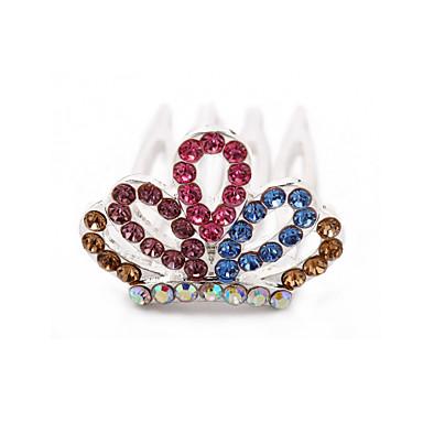 underbara cz cubic zirconia bröllop blommor flicka tiara / headpiece fler färger