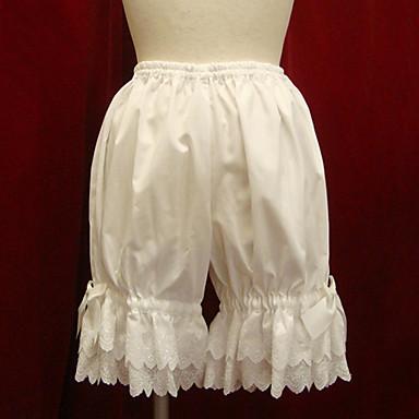 Παντελόνια Γοτθική Λολίτα Γλυκιά Λολίτα Κλασσική/Παραδοσιακή Lolita Λολίτα Πανκ Λευκό Μαύρο Αξεσουάρ Lolita Βαμβάκι