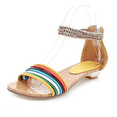 Kunstleer lage hak sandalen met split gezamenlijke feest / avond schoenen (meer kleuren)