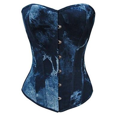 Corset Lolita Stil Gotic lolita Agățare pe Pentru femei Albastru Lolita Accesorii culoare Gradient lolita Bumbac / Poliester pânză Costume de Halloween