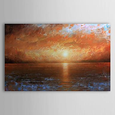 Maalattu Maisema Horizontal Kangas Hang-Painted öljymaalaus Kodinsisustus 1 paneeli