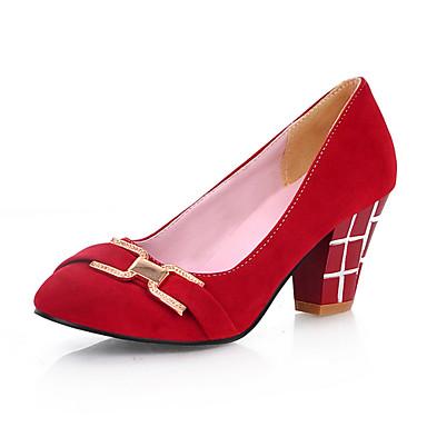Suede Chunky Heel Pumps met gesp feest / avond schoenen (meer kleuren)