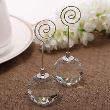 Crystal Iron Place Card Holders Standing Style PVC Bag 1