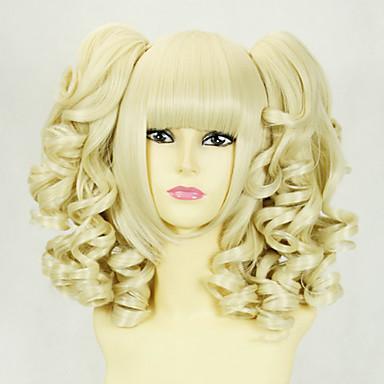 Blonde Curly Pigtails 45cm Princess Lolita Wig 658861 2018 ...