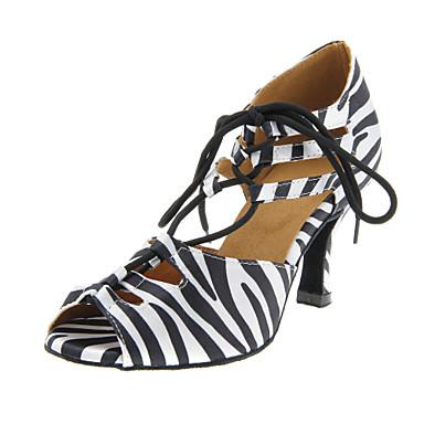 7deb3985 Mujer Satén Zapatos de Baile Latino / Salón Hebilla Tacones Alto Tacón  Personalizado Personalizables Negro y