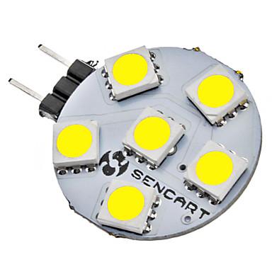 SENCART 1W 6500lm G4 LED Doppel-Pin Leuchten 6 LED-Perlen SMD 5050 Natürliches Weiß 12V
