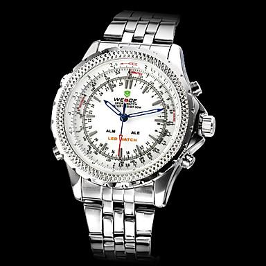 WEIDE Men's Quartz Japanese Quartz Wrist Watch Sport Watch Alarm Calendar / date / day Chronograph Water Resistant / Water Proof Dual
