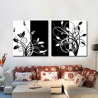 Strukket Lærred Print Lærred Sæt Botanisk To Paneler Horisontal Print Vægdekor For Hjem Dekoration