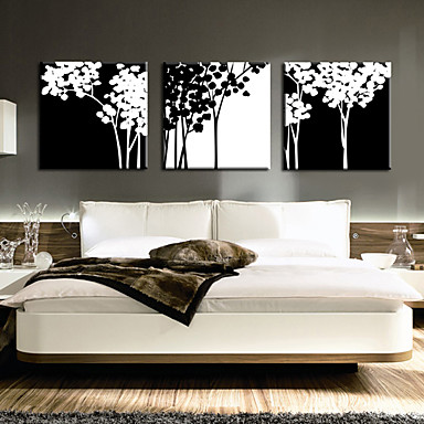 Intins Canvas Art ramuri botanice Set de 3