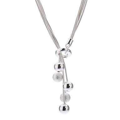 Uçlu Kolyeler - Som Gümüş, Titanyum Çelik, Gümüş Gümüş Kolyeler Mücevher Uyumluluk Günlük