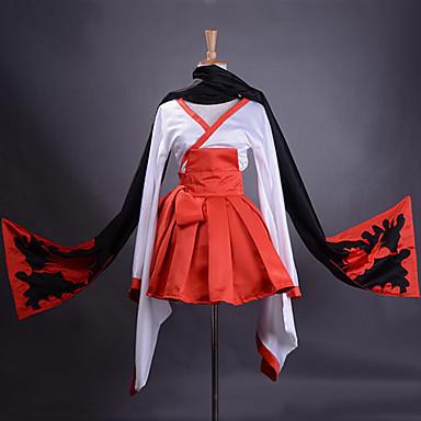 Inspirirana Inu x Boku SS Ririchiyo Shirakiin Anime Cosplay nošnje Cosplay Suits Kimono Kolaž Dugih rukava Suknja Pojas Kimono Dlaka šal