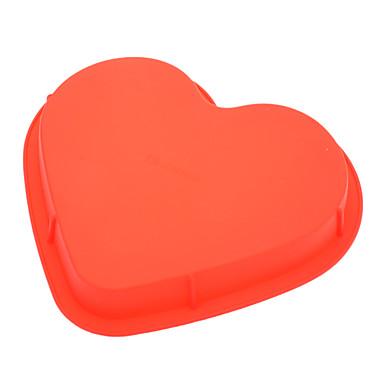 Pişirme Kalıp Kalp Tart Kurabiye Kek Silikon Çevre-dostu Sevgililer Günü Yüksek kalite