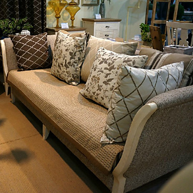 pamuk / lan moda četiri godišnja doba tkanina srebrni kauč jastuk 70 * 180cm