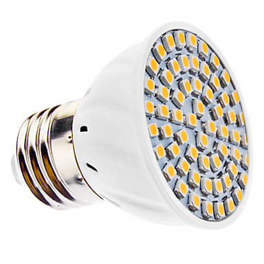 3500 lm E26/E27 LED Spotlight MR16 60 leds SMD 3528 Warm White AC 110-130V AC 220-240V