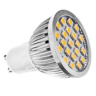 240 lm E14 GU10 E26/E27 LED 스팟 조명 MR16 21 LED가 SMD 5050 따뜻한 화이트 차가운 화이트 AC 220-240V AC 110-130V