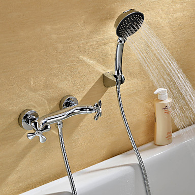 Sprinkle® Shower Faucets  ,  Transitional  with  Chrome Two Handles Two Holes  ,  Feature  for Wall Mount