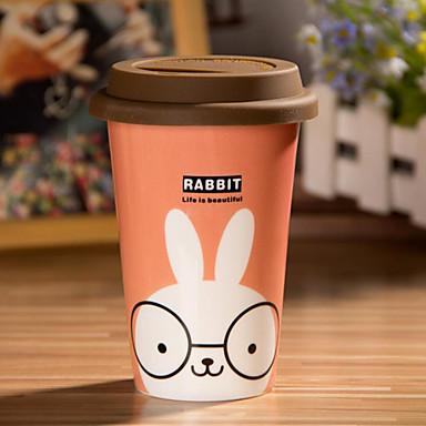 Taza De Conejo De Dibujos Animados Con Cola Flexible Taza De La