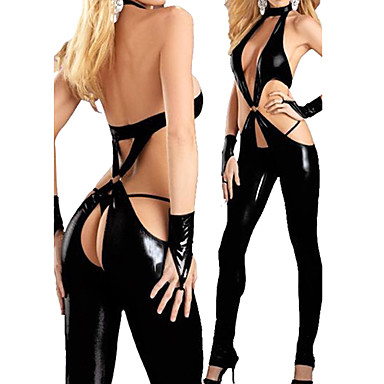 More Costumes Cosplay Costume Women's Christmas Halloween Carnival Festival / Holiday Polyurethane Leather Outfits