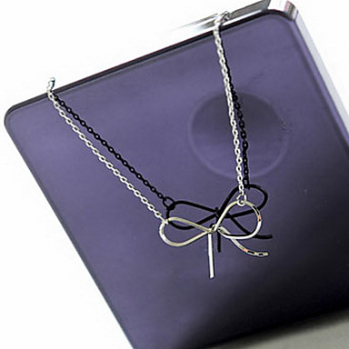 Women's Bowknot Classic Simple Style Fashion Pendant Necklace Alloy Pendant Necklace , Party