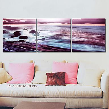 Reprodukce na plátně umění Krajina Moře Wave Sada 3