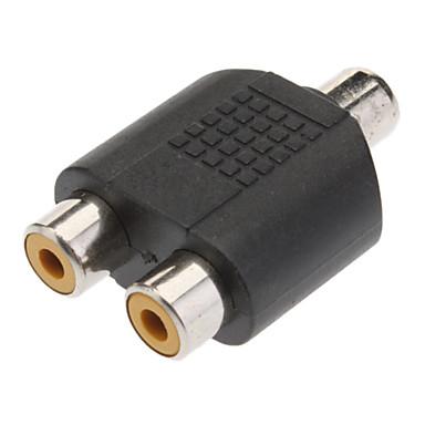 1-2 Female Cinch-Stecker AV Splitter Adapter