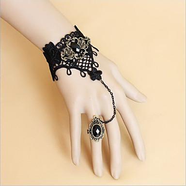Nakit Gothic Lolita Nakit za gležanj Lolita Žene Lolita Pribor Čipka Narukvica prsten Čipka Metal Umjetna Gemstones