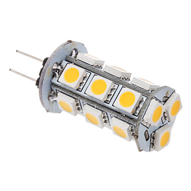 2W G4 LED Corn Lights T 18 SMD 5050 100-120 lm Warm White AC 12 V