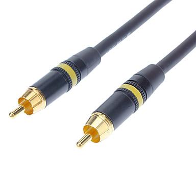 jsj® 1m 3,28ft RCA kompozitní muže k muži videa pozlaceným kabel - černá