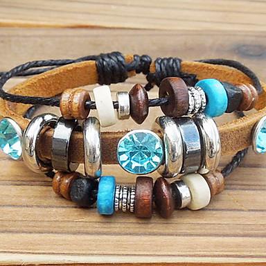 Women's Beaded Charm Bracelet / Vintage Bracelet - Leather Unique Design, Fashion Bracelet For Party / Daily / Casual