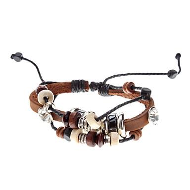 Unisex Multilayer Fabric Leather Bracelet