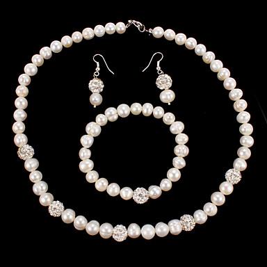 Pentru femei Ștras Perle Nuntă Petrecere Ocazie specială Aniversare Zi de Naștere Cadou Σκουλαρίκια Coliere Brățări Costum de bijuterii
