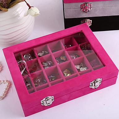 Karbon fiber Oval Kapaklı Ev organizasyon, 1pc Pudełka na biżuterię