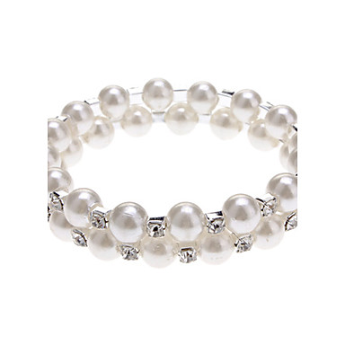 Dámské Perly Napodobenina perel Štras Ostatní Strand Náramky - Jedinečný design Módní Bílá Náramky Pro Párty Denní Ležérní