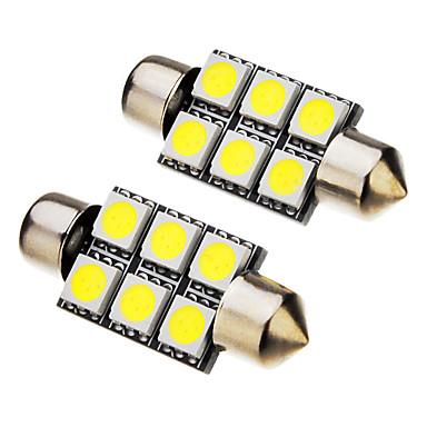 Festoon Mașină Alb Rece 1W SMD 5050 6000Lumini de instrumente Lumini pentru numerele de înmatriculare Lumină marker laterală Lumini de