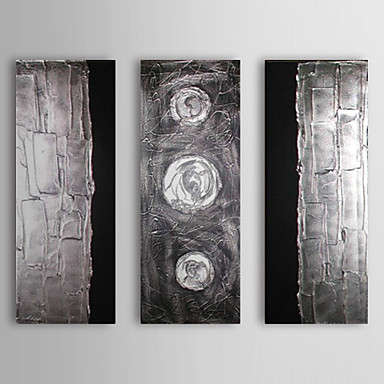 Hand-Painted Abstract Canvas Oil Painting Home Decoration Three Panels